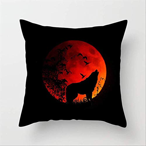 N\A Animal Pillowcase Wolf Dog Soft Throw Pillow Cover Decorative Pillow Case Home Hotel Put On Backrest Decoration 45 * 45CM C