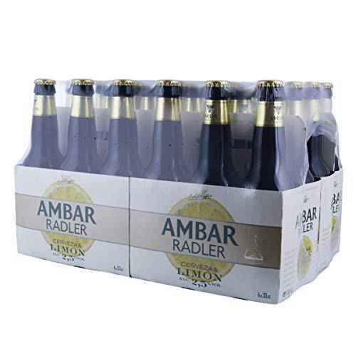 Ambar Radler Cerveza con Limon 24 botellines x 330 ml.