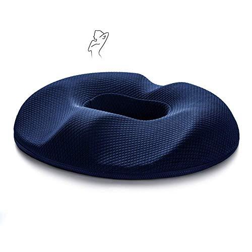 Travel Orthopedisch Kussen, Ademend Nekkussen Memory Foam Seat Cushion, voor de onderrug, Coccyx en Sciatica - Draagbaar zitkussen voor kantoor, thuis, auto