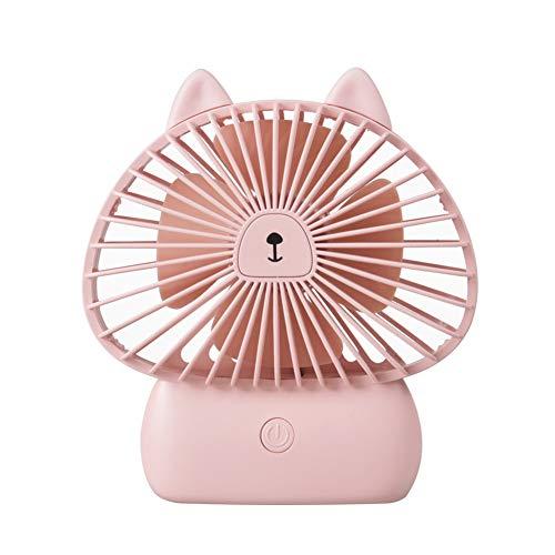 hanbby Mini Ventilador De Mesa Ventilador USB Ventiladores de Escritorio USB Pequeño Ventilador de Escritorio con alimentación eléctrica Cat&Pink