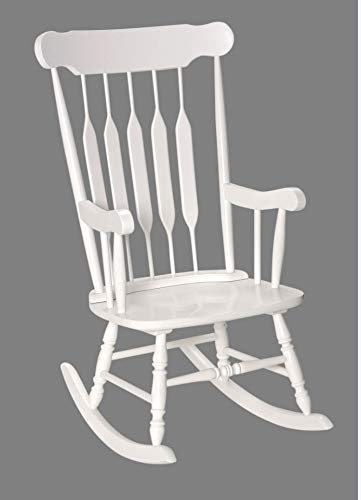 Adult Solid Wood Rocking Chair White