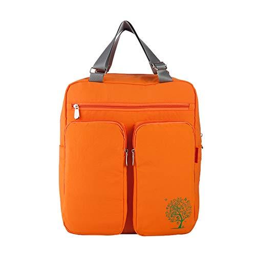 Ommda Wickeltasche Rucksack Baby Wickelrucksack Wickeltasche mit Wickelunterlage und Halterung Kinderwagen Babytasche Wickeltasche Rucksack für mama Modern Wasserfest Orange