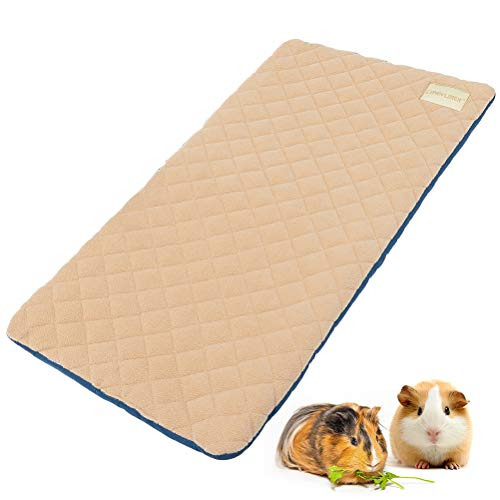 EXPAWLORER Guinea Pig Fleece Cage Liners - Washable Non Slip Guinea Pig Bedding, Waterproof Super Absorption Reusable Pee Pads for Rabbits, Hamsters, and All Small Animals