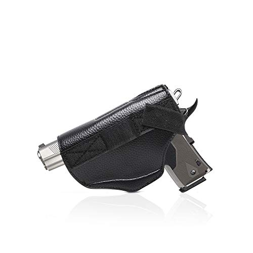 Montana West Leather Gun Holster for Concealed Carry Purse for Women comes with Velcro, Fits All Firearms Glock 17,19,23,26,27,42,43x holster Pistols 9mm M&P Shield Taurus GUN-HOLSTER-BK