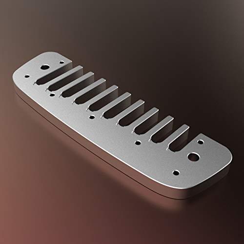 JingYi Accesorio de armónica de 4,1 x 1,2 x 0,2 Pulgadas, Peine de armónica, Ligero y Duradero sin deformación para el Cruce de Banda Marina de Golden Melody Hohner(Silver)