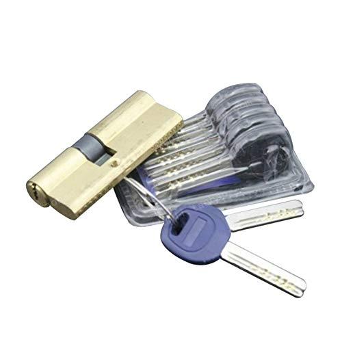 LITOSM Lock Cylinder 75mm Security Door Lock Cylinder Copper Lock Core AB Key Lock Core Double Open Lock Cores Door Barrel Lock (Color : 75 eccentric)