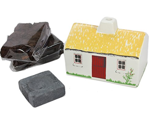 Irish Shopper Turf Peat Incense Ceramic Cottage Gift Boxed Irish Ireland