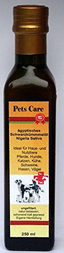 Pets Care 250 ml Schwarzkümmelöl ungefiltert zur Nahrungsergänzung für Tiere Mevlana Naturmühle