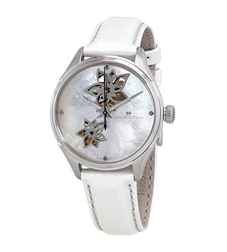 Hamilton Jazzmaster H32115892 - Reloj de pulsera para mujer, diseño de corazón abierto, esfera de madreperla