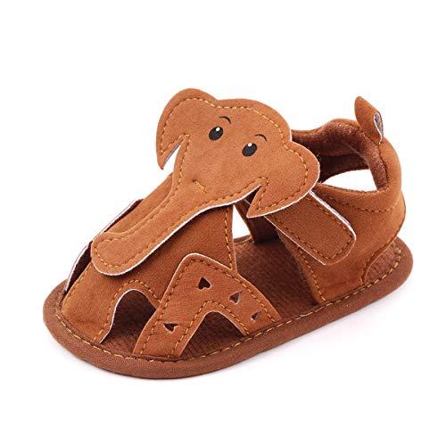 Sandalias para niños y niñas, LukyTimo Unisex Zapatos Bebé Niño Niña Primeros Pasos Recién Nacido Plano con Suela Suave Antideslizante Sandalias de Dibujos Animados de niños Lindos