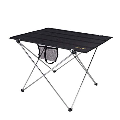 LJQLXJ Mesas Plegables Outdoor Camping Portable Lightweight Folding Table Airport Large Aluminium Alloy Picnic Barbecue Desk,75x55x52cm