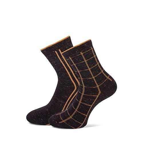 marcmarcs Damen Socken-GIGI (39-42, Brown Beige)