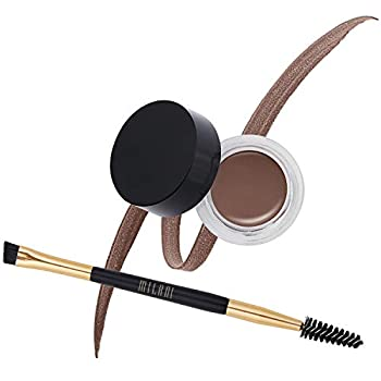Milani Stay Put Brow Color - Dark Brown  0.09 Ounce  Vegan Cruelty-Free Eyebrow Color that Fills and Shapes Brows