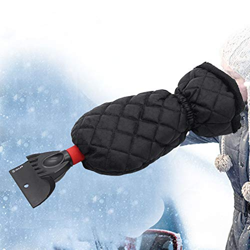 UIGJIOG Ice Scraper Car Windshield Scraper with Glove Lined Thick Snow Shovel Portable Snow Removal Tool Car Windshield