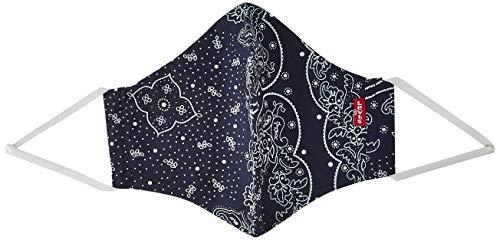 Levi's Unisex 3pk Reusable Face Cover Bandana, colore azul/negro/rojo S