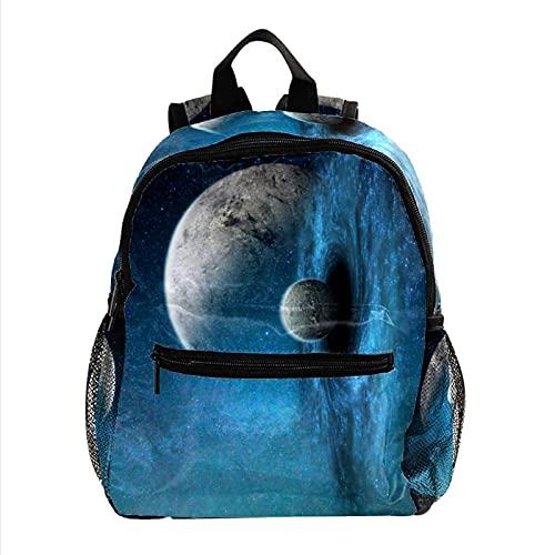 Yumansis Kindergartenruck sack Galaxy Kosmos Sternenhimmel Planet Kindergartenrucksack für 2-6 Jährige Kinder im Kindergarten und Kinderrucksack für die Kita 30 CM