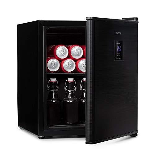 KLARSTEIN Beer Baron - Frigorifero per Bevande, Volume: 46 Litri, CEE Classe F, Temperatura: 0-10 °C, Pannello di Controllo Touch, Ripiano a Griglia Regolabile, Nero