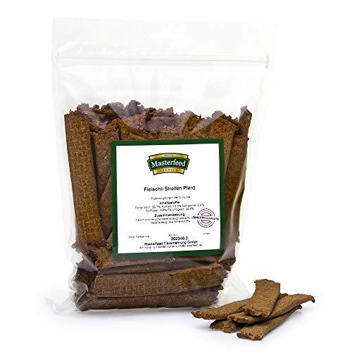 Masterfeed Leckerli Streifen Pferd - 90% Fleischanteil - Getreidefrei - 100% Natürlich - Hundeleckerli Größe 500 g