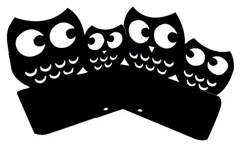Winterworm Rutschfeste Süße Eulen Owl Buchstützen Buchstütze, Kunst, 1Paar schwarz
