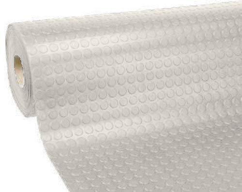 Passatoia Zerbino Tappeto Rivestimento Pavimenti in PVC Antiscivolo Flessibile e Resistente Disegno Bollato Larghezza 100 cm Lunghezza 10 m Colore Grigio