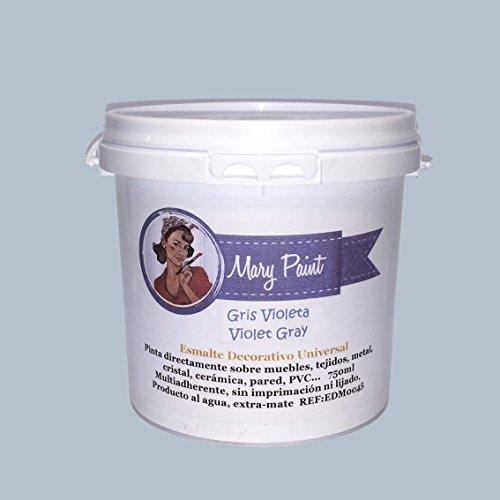 Mary Paint   Pintura para muebles efecto Chalk Paint, Gris Violeta - 750ml