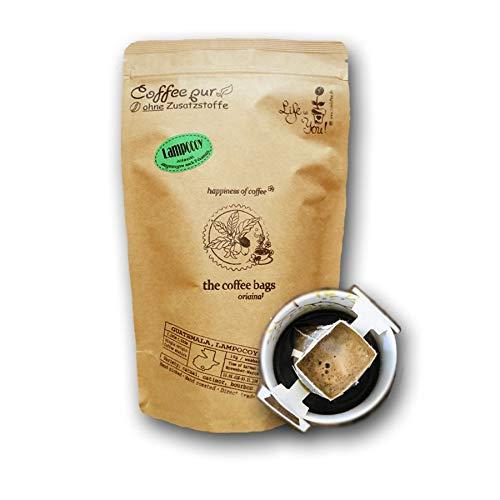Life is You! Coffee Bags | Lampocoy Grand Cru Kaffee aus dem kleinen Bergdorf Lampocoy in Guatemala | 15 Coffee Bags (für Becher) | in verschließbarer Zipptüte - 100% Arabica - frisch & schonend handgerösteter, milder Filterkaffee, bekannt aus