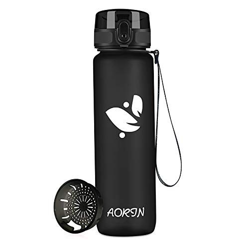 AORIN Botella Agua Deporte -350ml/500ml/750ml/1000ml - Botella Agua Niños Sin...
