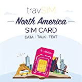 travSIM USA SIM Card (T-Mobile SIM Card) Valid for 7 Days – 50GB 3G 4G LTE Mobile Data - United States T-Mobile US SIM Card (Also Works in Canada & Mexico, 5GB Combined)