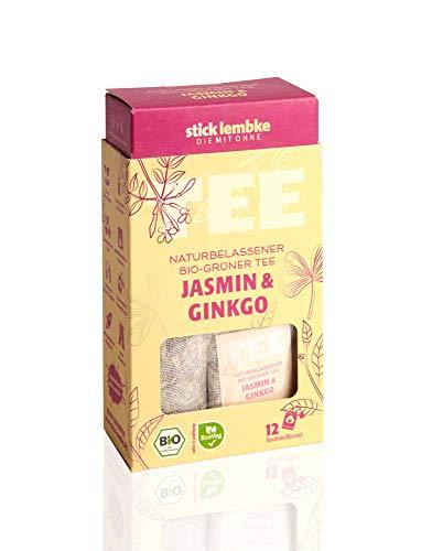 Naturbelassener Bio-Grüner Tee Jasmin & Ginkgo 12 x 2 g Bio
