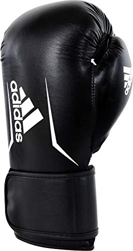 adidas Unisex– Erwachsene Speed 100 Boxhandschuhe, Black/White, 10