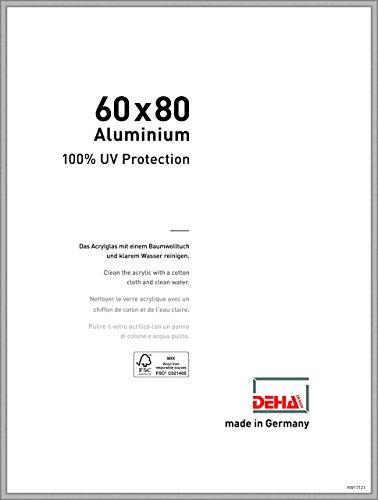 DEHA Aluminium Bilderrahmen Boston, 60x80 cm, Silber Matt