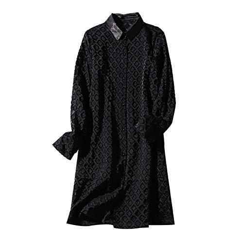 BINGQZ Cocktail Jurken 2019 lente nieuwe stiksels revers vest jurk los een woord poseren kleine zwarte rok vrouw