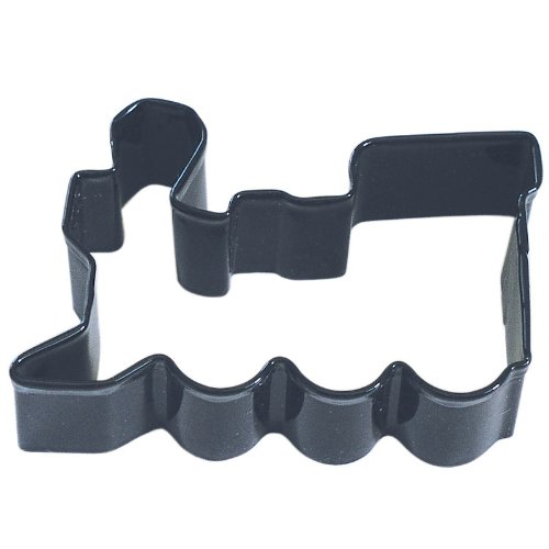 Train Black Poly Resin Coated Tin Cookie Cutter 3'