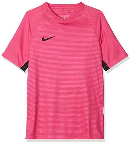 Nike Unisex Jungen Tiempo Premier SS Trikot T-shirt, Rosa (vivid pink/Black/662), Gr. M