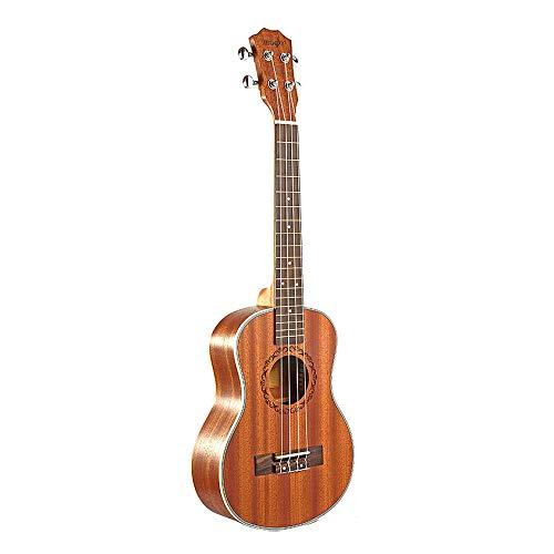 WOVELOT Tenor Acústico Eléctrico Ukulele 26 Pulgadas Guitarra 4 Cuerdas Ukelele Hecho A Mano Guitarrista de Madera de Caoba
