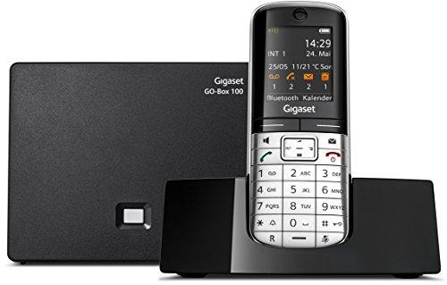 Gigaset SL400A GO Telefon - Schnurlostelefon / Mobilteil - mit Farbdisplay - Anrufbeantworter - Freisprechen - Design Telefon / Schnurloses Telefon - VOIP - IP-Telefon - schwarz