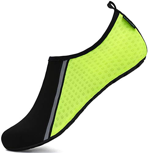 SAGUARO Escarpines Hombre Mujer para Buceo Snorkel Surf Natación Piscina Vela Mares Rocas Río Zapatos para Agua Calzado Playa Zapatillas Deportes Acuáticos (031 Verde,38/39 EU)