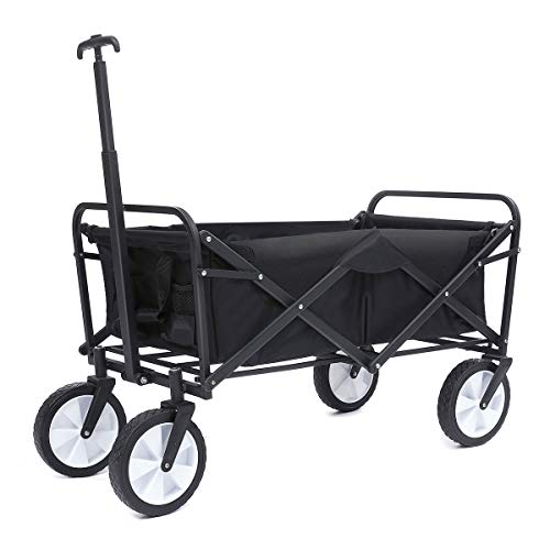 TOOCA Collapsible Wagon Folding Outdoor Utility Cart | Heavy Duty Hand Cart/Camping Cart/Beach Wagon,Suit for Beach/Barbecue/Picnic/Shopping/Indoor