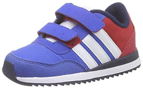 adidas V Jog CMF Inf, Zapatos de Primeros Pasos Unisex bebé, Azul/Blanco/Rojo (Azul/Ftwbla/Rojfue), 18