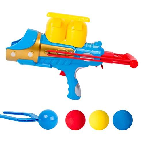 Yeglg Bola de nieve, juguete lanzador de bolas de nieve, con clip de bola de nieve, prensa de bola de nieve, alicates de bola de nieve, para niños, juguetes de juego al aire libre