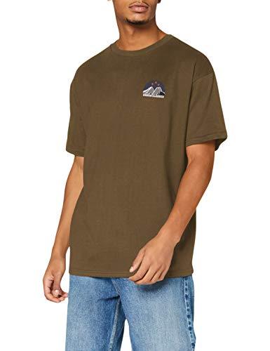 Urban Classics Herren Horizon Tee T-Shirt, Olive, XXL