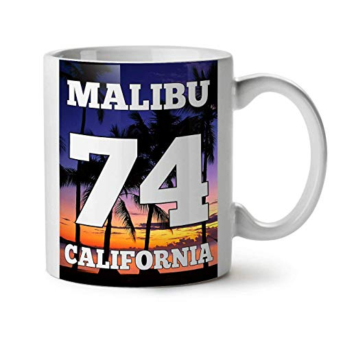 Becher Malibu California Ceramic Coffee Cup Familie Ceramic Office Mug beste Geschenkbecher 11 OZ Geschenkbecher