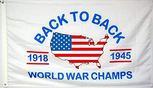 AUMIAU Back to Back World War Champs Flag Banner 3x5Ft College Dorm Room Man Cave Frat Wall product image