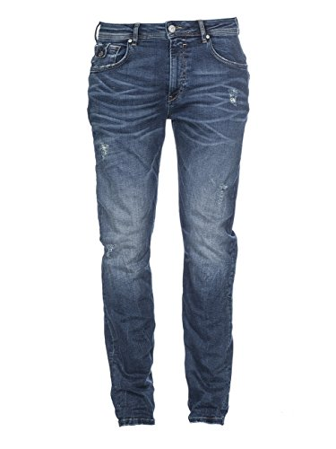 M.O.D Herren Ricardo Slim Jeans, Blau (Messina Blue 2030), W32/L34