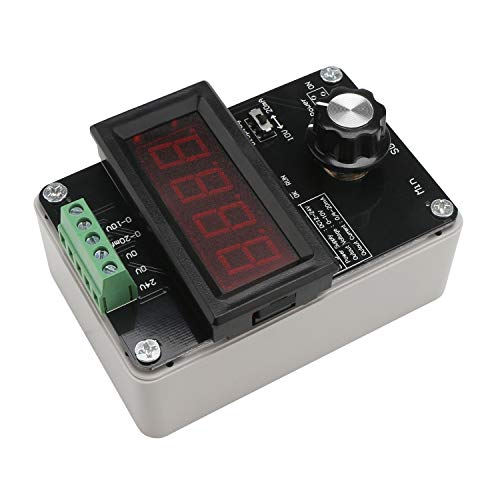 Signal Generator Power Supply, Droking DC 24V 0-20mA/4-20mA/0-10V Adjustable Current Voltage Analog Current Signal Source with 3-Digits Led Digital Display Meter