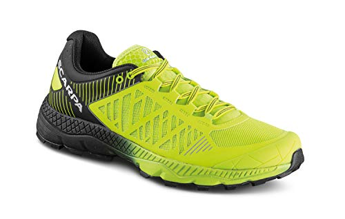 Scarpa SPIN Ultra, Zapatillas de Trail Running Hombre, Acid Lime-Black ARS6 Velox MAX LB, 41 EU