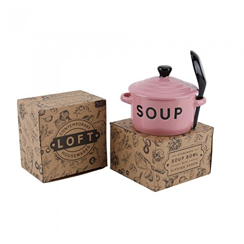 CGB Giftware Loft Light Pink Soup Set (One Size) (Light Pink)