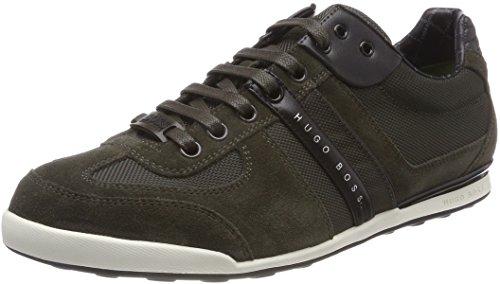 BOSS Herren Akeen Sneaker, Grün (Dark Green 308), 42 EU