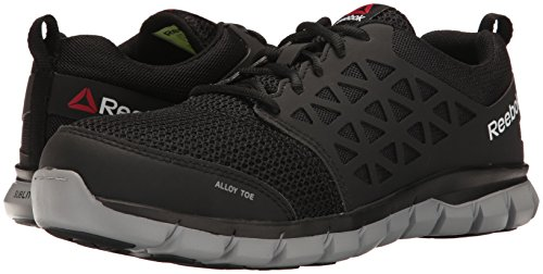 Reebok Work Men's Sublite Cushion Work RB4041 Industrial and Construction Shoe, Black, 15 W US