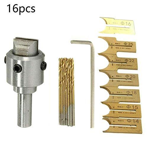 Snow Island 16 Stück/Set Muster Holzperlen Maker Perlen Bohrer Mini Fräs-Set Werkzeug für DIY